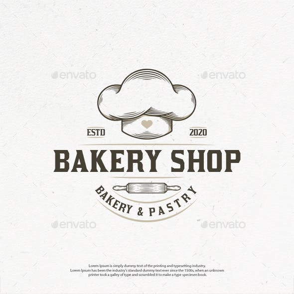 Bakery Shop Vintage Logo Template