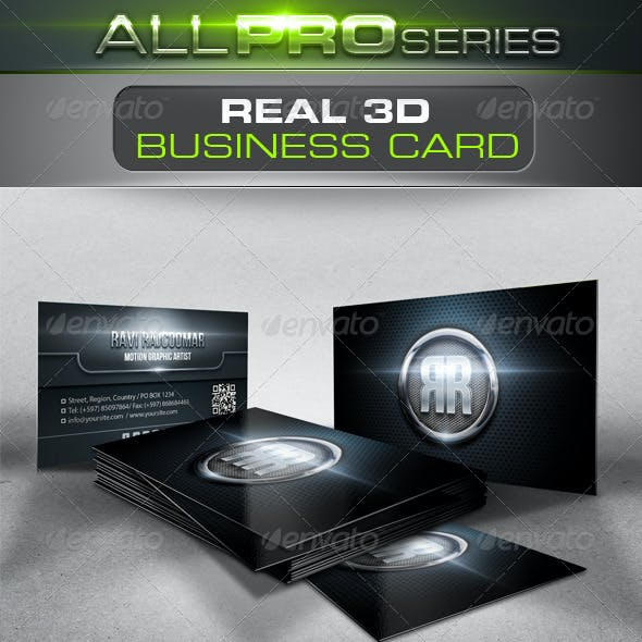 Real 3D Business Card