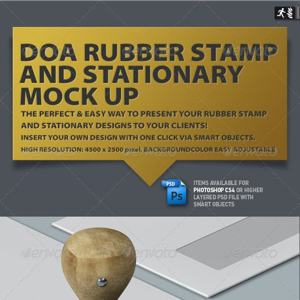 DOA Rubber Stamp and Stationary Mock Up