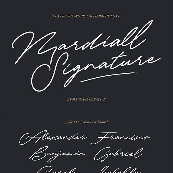 Mardiall Signature Font