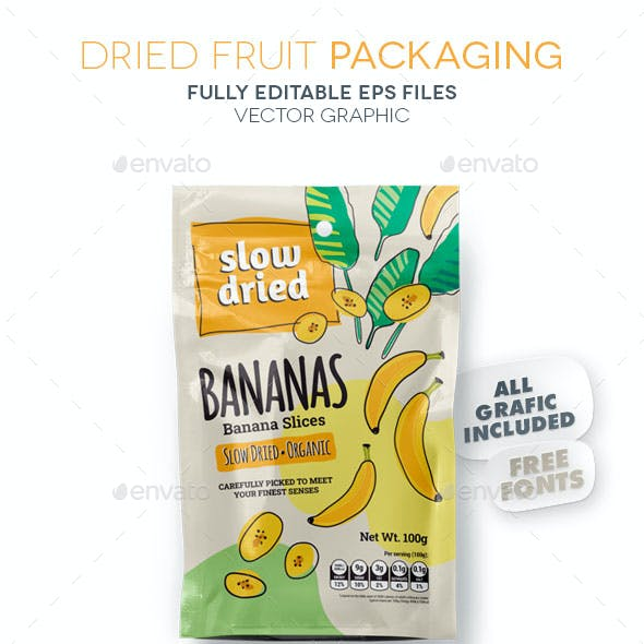 Dried Fruit Packaging / Bananas