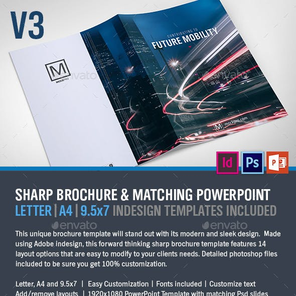 Sharp Modern Brochure and PowerPoint V3