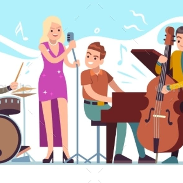Jazz Musicians. Music Performing, Funky Musicians