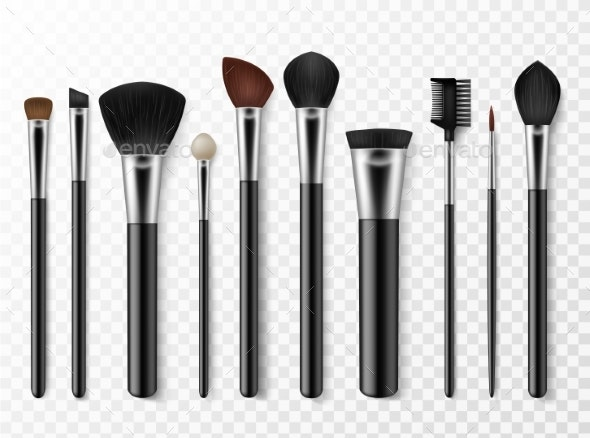 Makeup Brushes Realistic Professional