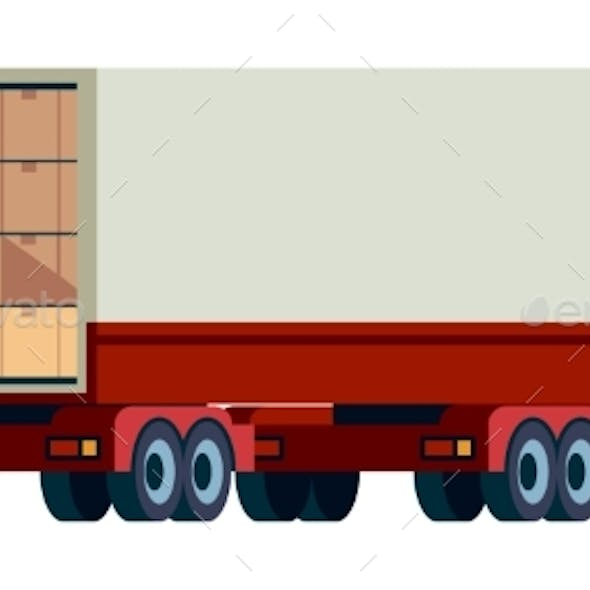 Delivery Cargo Truck. Loading Transport