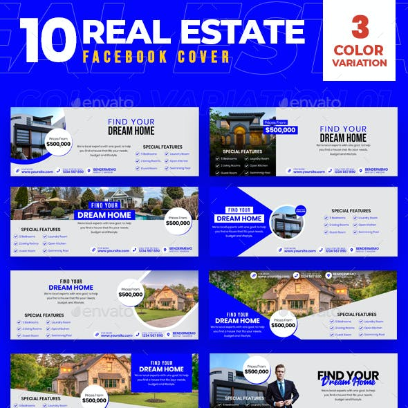 Real Estate 10 Facebook Cover
