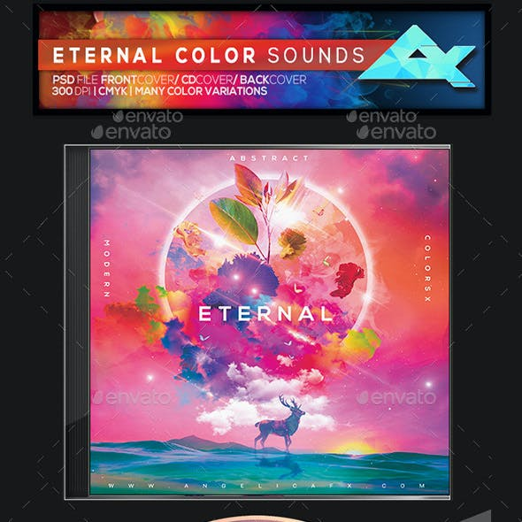 Eternal Color Sounds CD/DVD Photoshop Template