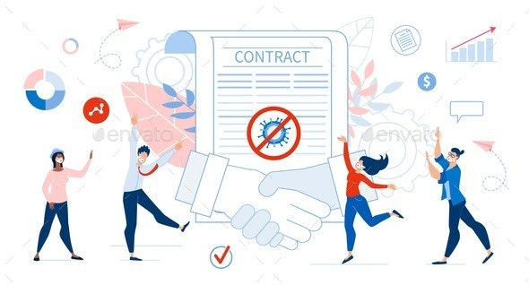 Successful Contract Agreement and Happy People - Business Conceptual