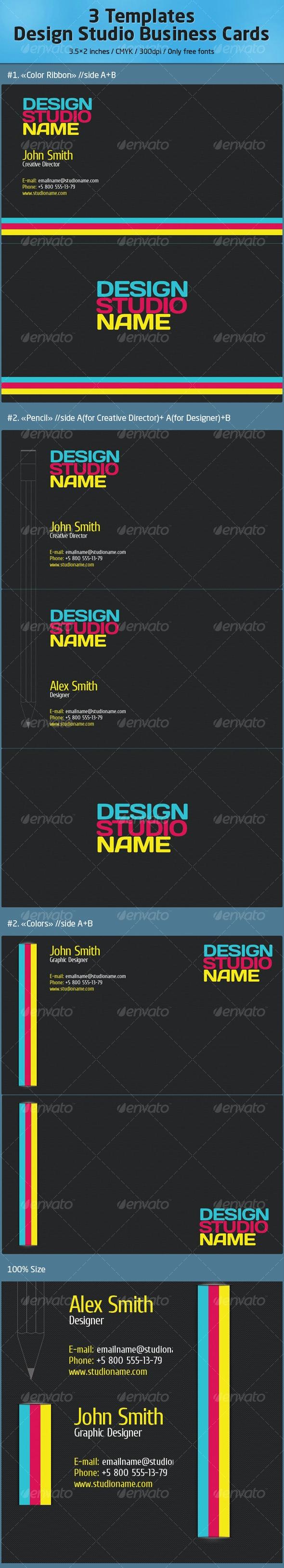Design Studio Business Cards //Carbon - Corporate Business Cards