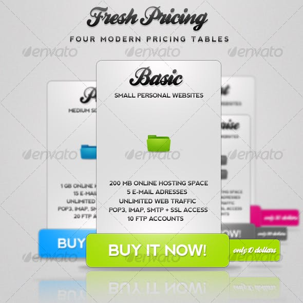 Fresh Pricing - Modern Pricing Tables