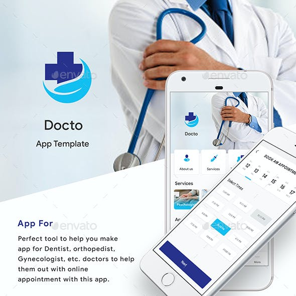 Doctor Appointment Booking App UI Kit | Docto