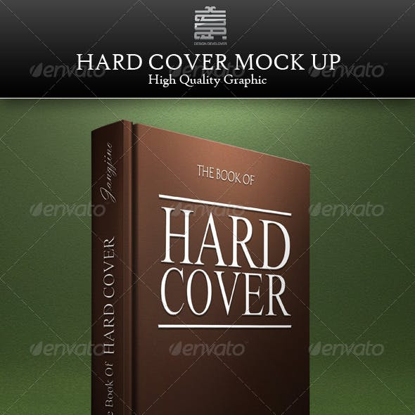 Artistic Hard Cover Book Mock up