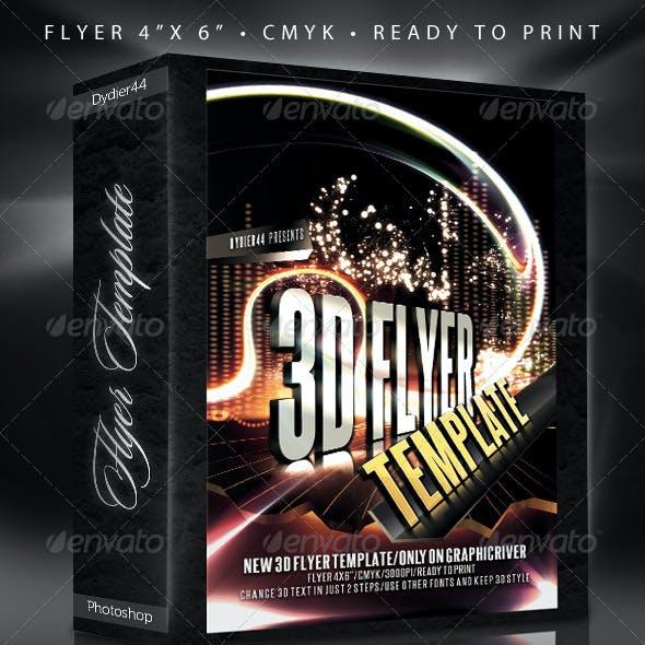"""3D Flyer (Flyer Template 4x6"""")"""