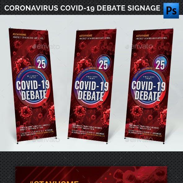 Coronavirus Covid-19 Roll-Up Banner