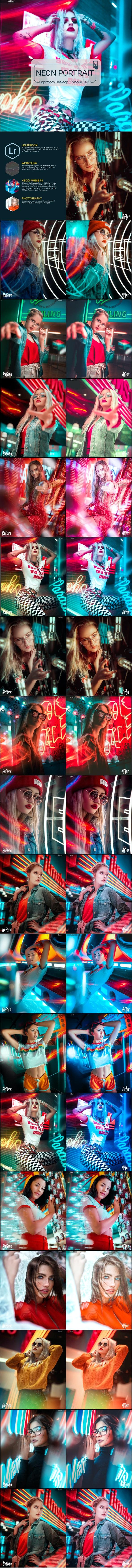 Real Neon Lightroom Presets - Portrait Lightroom Presets