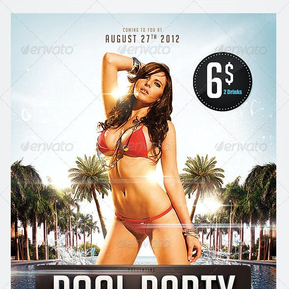 Pool & Beach party flyers