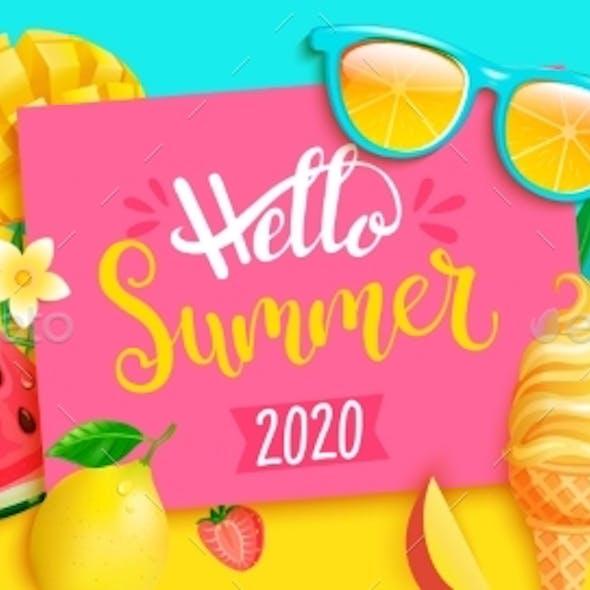 Summer 2020 Bright Greeting Banner