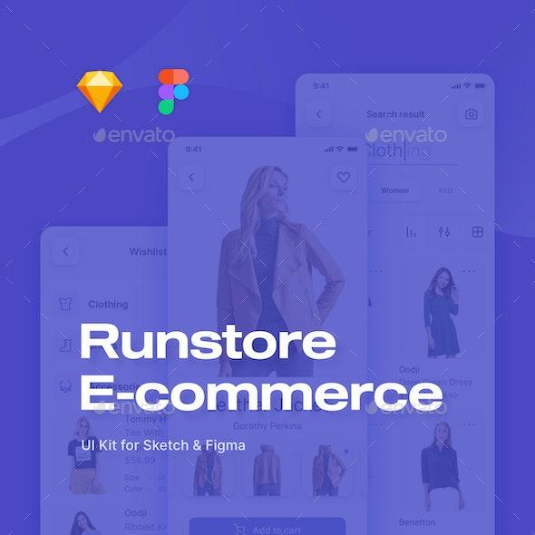 Runstore E-commerce UI Kit - User Interfaces Web Elements