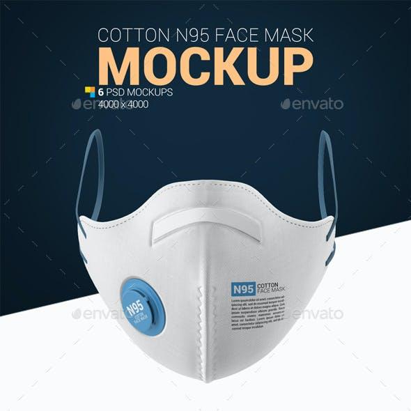 Cotton N95 Face Mask Mockup