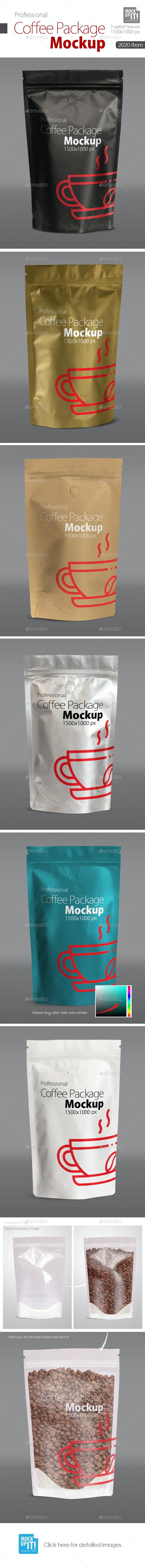 Coffee Package Mock up - Food and Drink Packaging