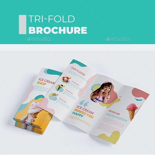 Ice Cream Shop Tri-Fold Brochure
