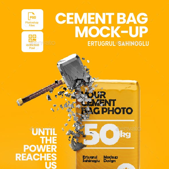 Cement Bag Mock-Up Templates