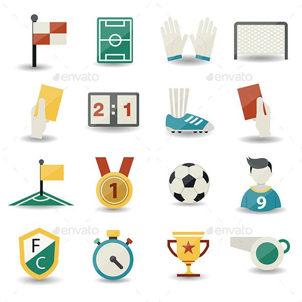 Soccer Icons no background