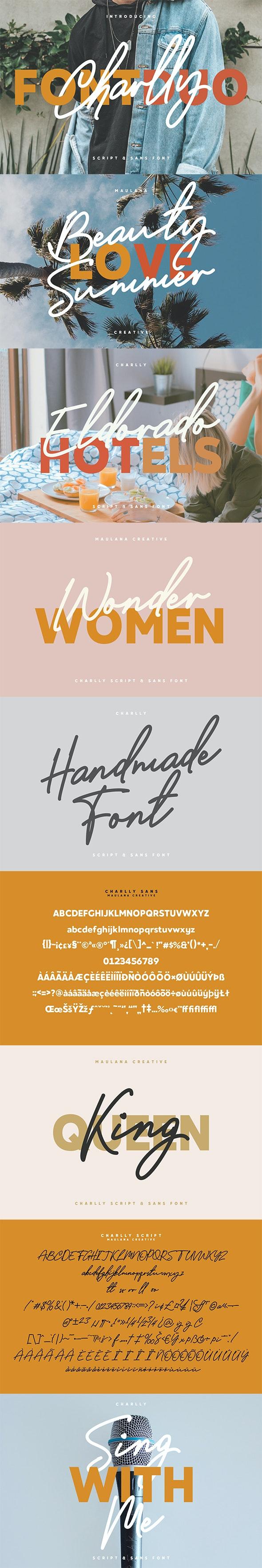 Charlly Font Duo - Handwriting Fonts