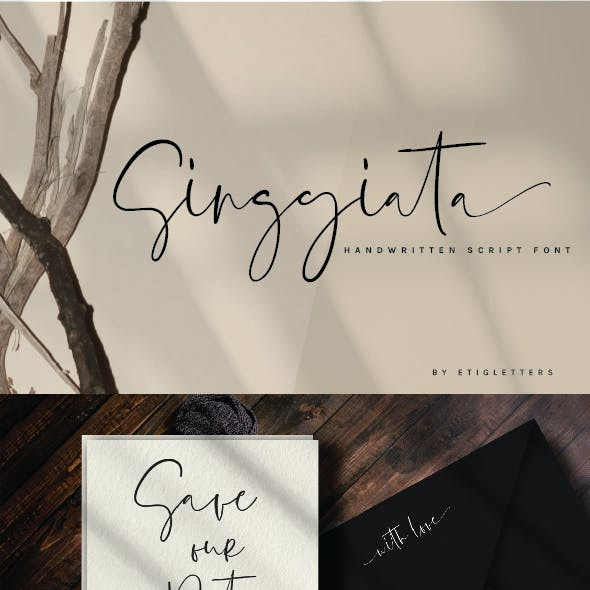 Singgiata | Handwritten Script Font