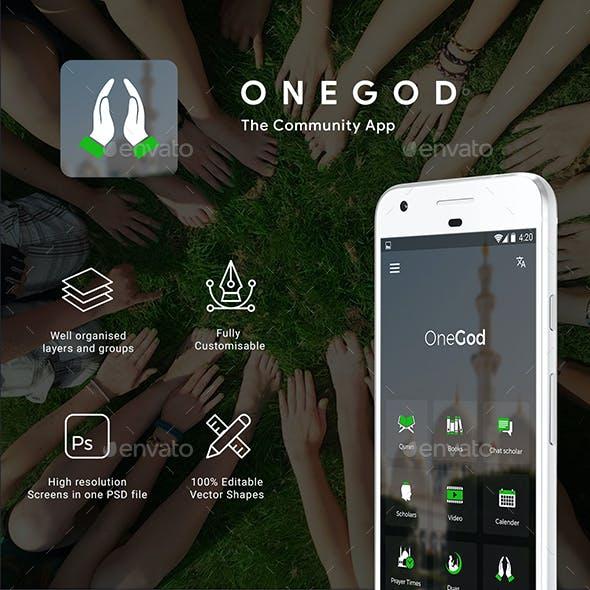 A community App UI set | One God