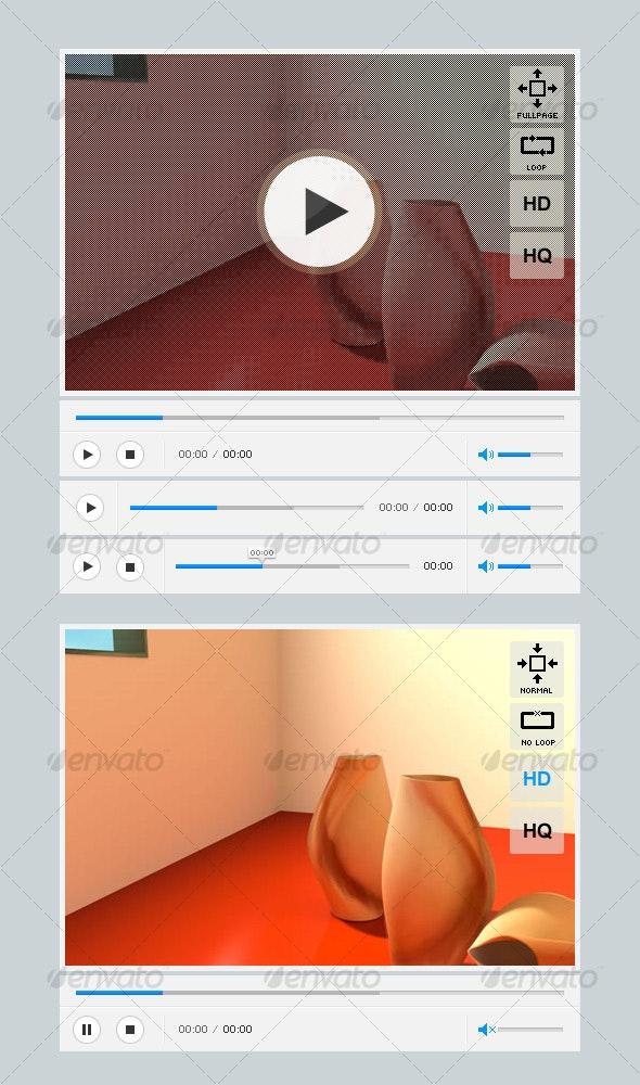 Full Video/FLV player - Web Elements