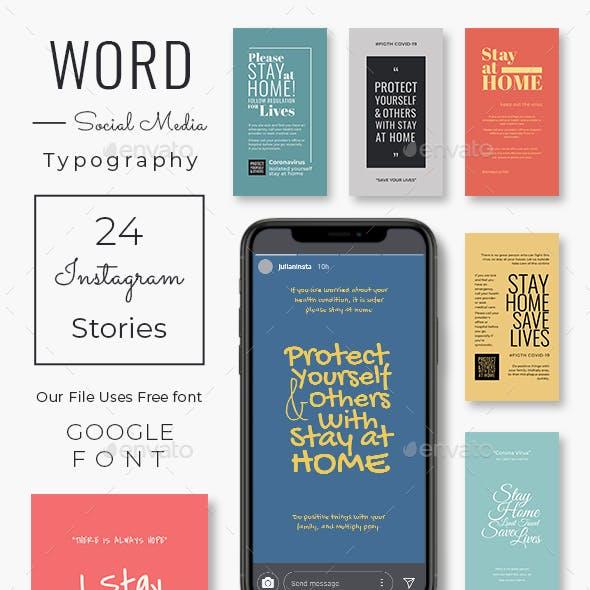 Word Typography Instagram Stories