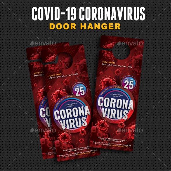 Coronavirus Covid-19 Debate Door Hanger