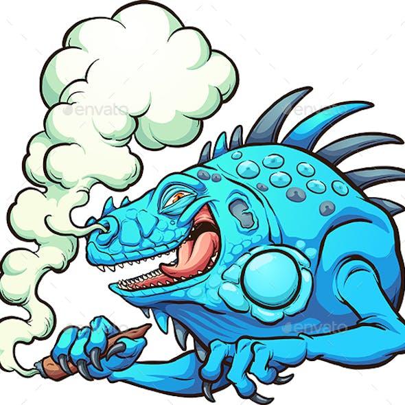 Smoking Iguana