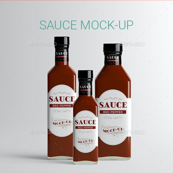 Sauce Bottle Mock-Up