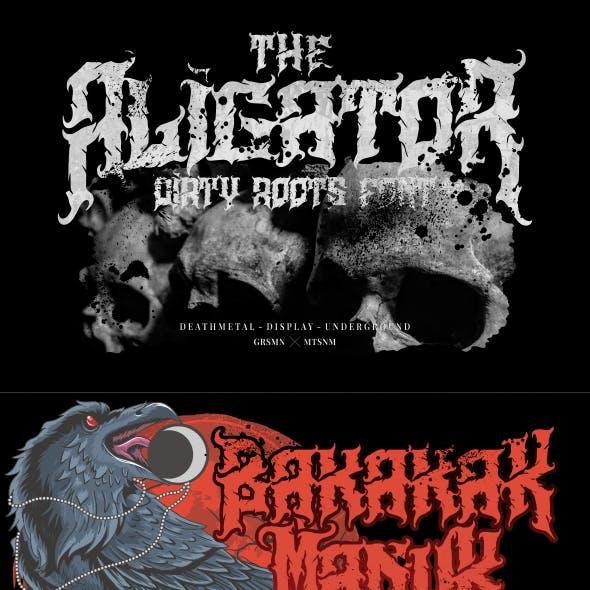 Aligator - Deathmetal Font
