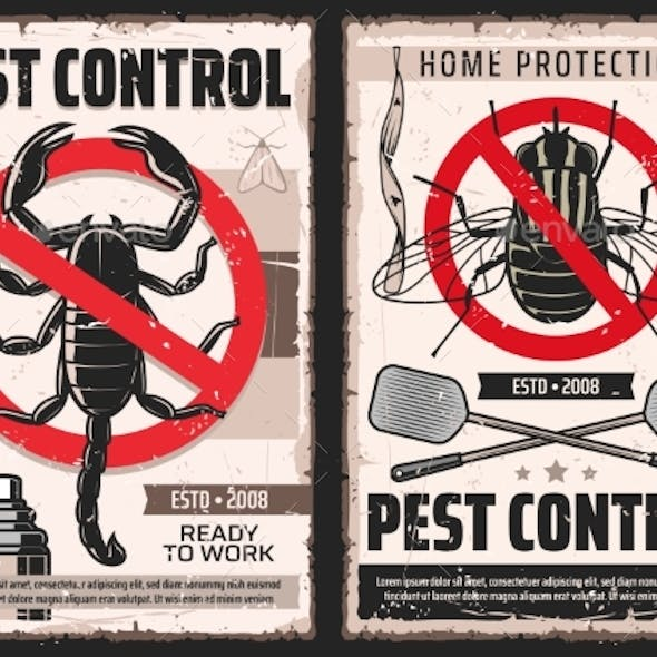Domestic Disinsection Pest Control Service Posters