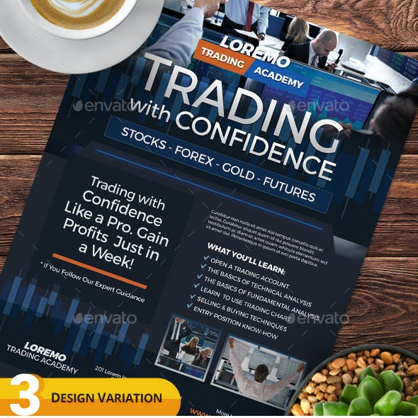 Financial Trading Flyer Templates