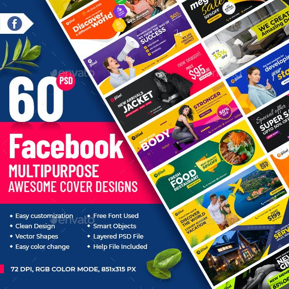 60-Facebook Timeline Cover Banners