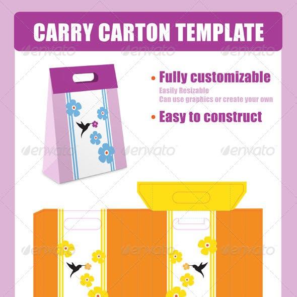 Carry Carton Template