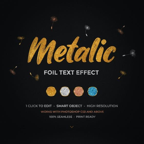 Metallic Foil Text Effect