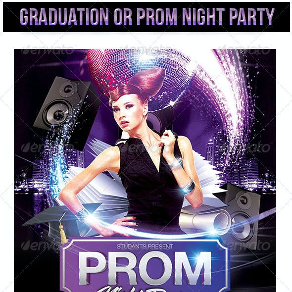 Graduation or Prom Night Party Flyer