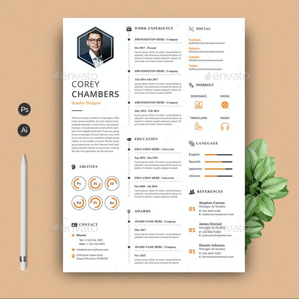 Infographic Resume By Kanvacreatives Graphicriver