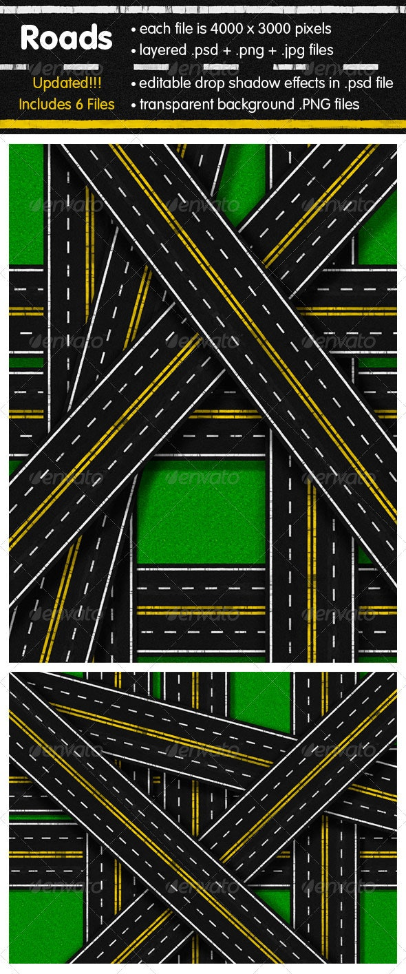 Roads - Backgrounds Graphics