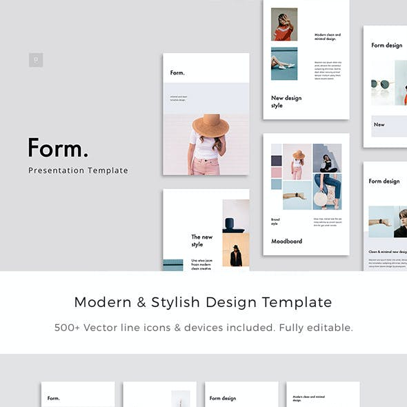 FORM - Vertical Powerpoint A4 + US Letter Template
