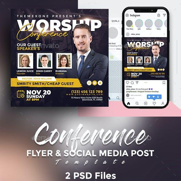 Conference Flyer & Social Media Post Templates