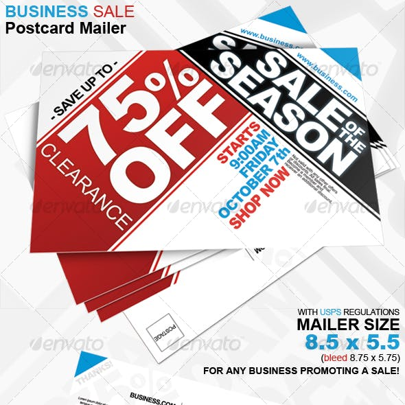 Business Sale Postcard Mailer 8.5 x 5.5