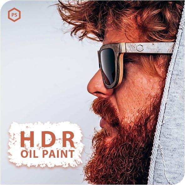 HDR Oil Paint Photoshop Action
