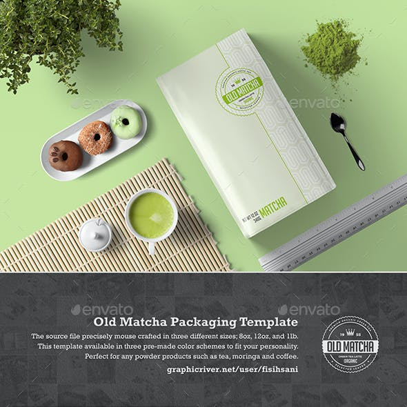 Old Matcha Packaging Template