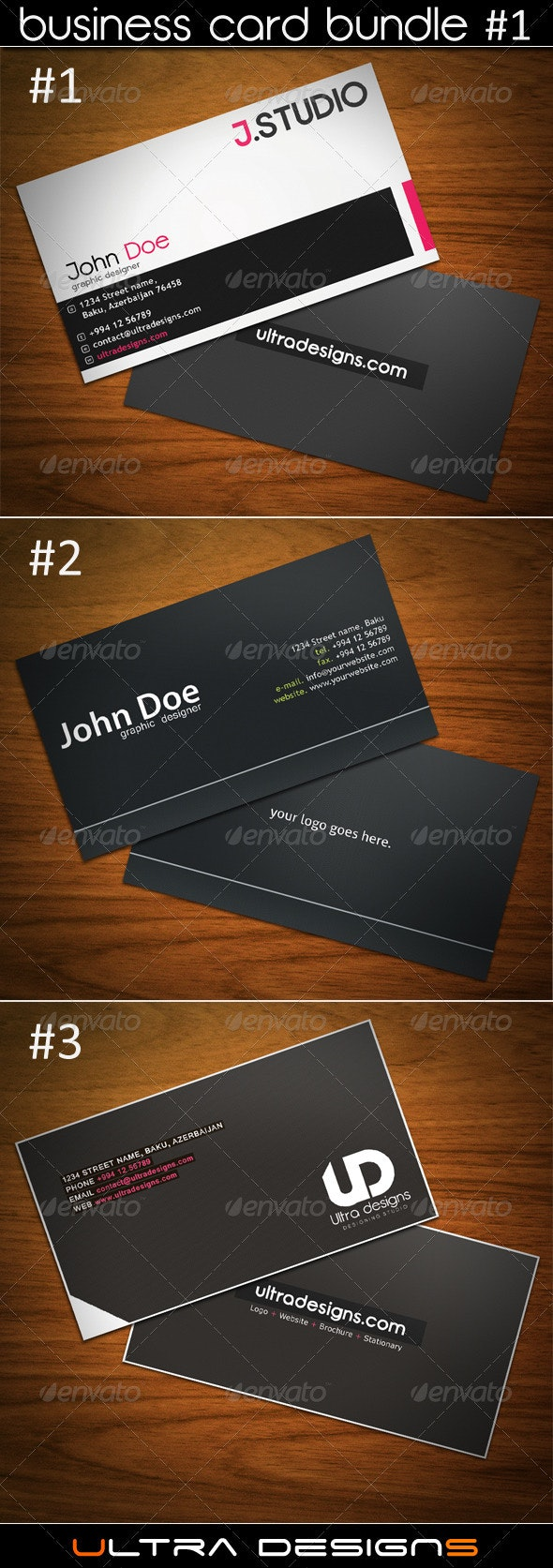 Business Card Bundle #1 - Business Cards Print Templates